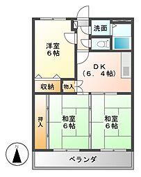 ア・ドリーム多田[2階]の間取り