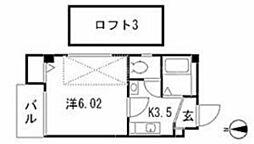 ナビ古川橋[3階]の間取り