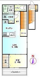 ディ クワトロ 高座渋谷 C[1号室]の間取り