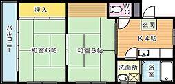 シャトレ穴生I[2階]の間取り