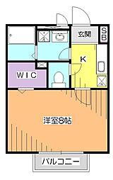 東京都小平市鈴木町1丁目の賃貸アパートの間取り