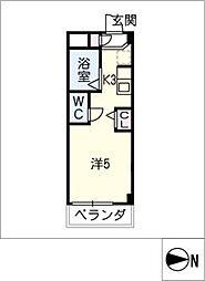 シャトー岐大 B棟[4階]の間取り