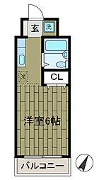 エステート中島[3階]の間取り