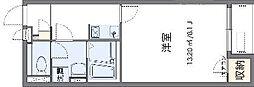 クレイノSakura 2階1Kの間取り