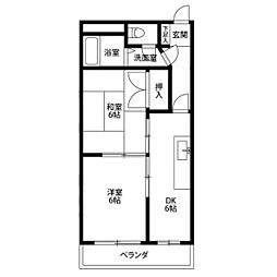 ヨコミゾマンション[302号室]の間取り