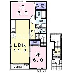 VILLA鶴島A[2階]の間取り