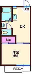 カーサ・イトー(六角橋)[108号室]の間取り