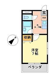 愛知県名古屋市西区丸野2丁目の賃貸マンションの間取り