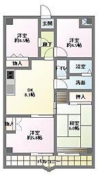 サンライト南浦和2番館[8階]の間取り