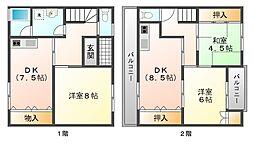 [テラスハウス] 兵庫県神戸市垂水区王居殿3丁目 の賃貸【/】の間取り