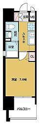 TOYOTOMI STAY PREMIUM ABENO天王寺 6階1Kの間取り