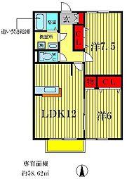 コモド八ヶ崎B[2階]の間取り