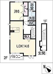 ヴィオラ21−III[2階]の間取り