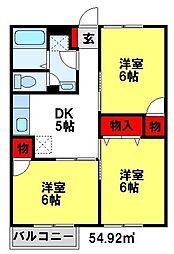 メゾンウィロー[2階]の間取り