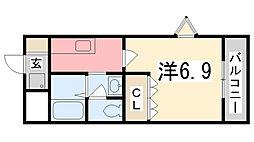 ベルメゾン[1階]の間取り
