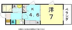 オープンヒルズ[4-A号室]の間取り