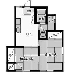 コロナハイム1[2階]の間取り
