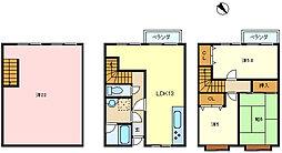 [テラスハウス] 兵庫県神戸市垂水区東垂水町2丁目 の賃貸【兵庫県 / 神戸市垂水区】の間取り