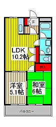 クレストール武蔵浦和[1階]の間取り