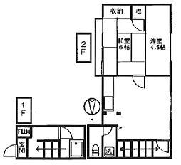 [一戸建] 東京都八王子市高尾町 の賃貸【/】の間取り
