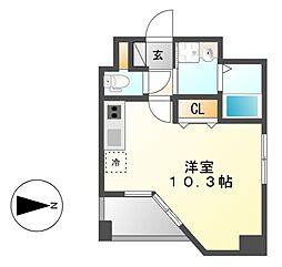 GRANDUKE東別院crea(クレア)[6階]の間取り