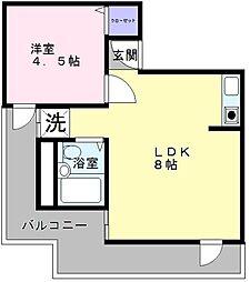 セントラル和泉 A棟[2階]の間取り