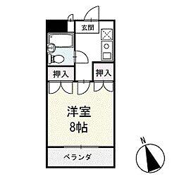 サンパール脇田D棟 2階[202号室]の間取り