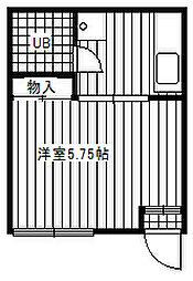 トウメイコーポ[301号室]の間取り