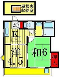 ハイムタチバナ[2階]の間取り