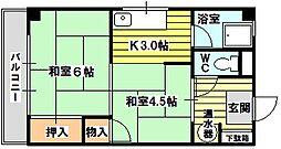 新菅原マンション旧館[3階]の間取り