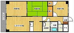 広島県安芸郡府中町青崎東の賃貸マンションの間取り