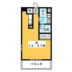 アーバンポイント高崎 10階ワンルームの間取り