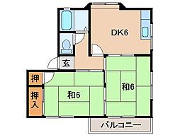 マンション紀北I[2階]の間取り