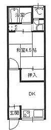 澤井文化・貸家[1階]の間取り