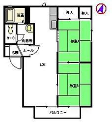 第IIコンフォートハウスA[101号室]の間取り