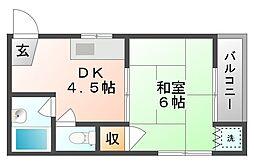 岡山県岡山市北区丸の内2丁目の賃貸マンションの間取り