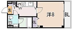 セレブ上小阪[3階]の間取り