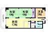 間取り,3LDK,面積53.46m2,賃料6.5万円,札幌市営東西線 宮の沢駅 徒歩13分,札幌市営東西線 発寒南駅 徒歩14分,北海道札幌市西区西町南15丁目4番6号