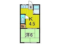 錦荘C[103号室]の間取り