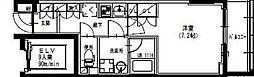 東武伊勢崎線 曳舟駅 徒歩5分の賃貸マンション 7階1Kの間取り
