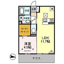 (仮)D-room内ケ島町[105号室]の間取り