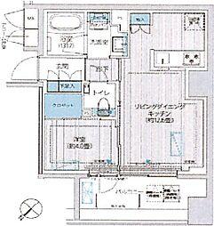東京メトロ日比谷線 築地駅 徒歩6分の賃貸マンション 9階1LDKの間取り