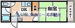 竹宏深江橋マンション[3階]の間取り