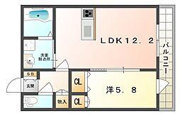 リレント[2階]の間取り