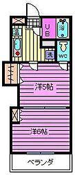 レジデンスカープ大宮[3階]の間取り