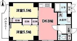 東京都練馬区南田中1丁目の賃貸マンションの間取り