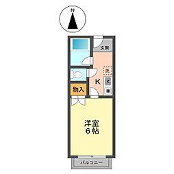 東京都江戸川区篠崎町7丁目の賃貸アパートの間取り