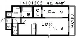 ブライトアビコ[5階]の間取り
