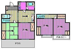 [テラスハウス] 埼玉県さいたま市緑区大字三室 の賃貸【/】の間取り