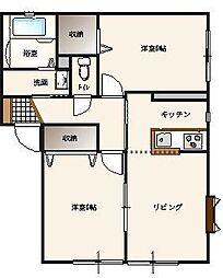 サンガーデン栃木A棟[1階]の間取り